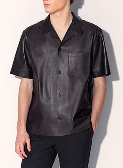Leather Shirt Half Sleeves #1