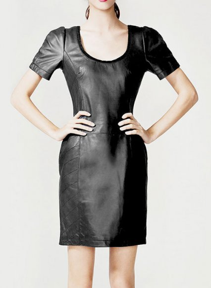 Petalo Leather Dress - # 756