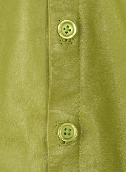 Bright Green Classic Leather Shirt