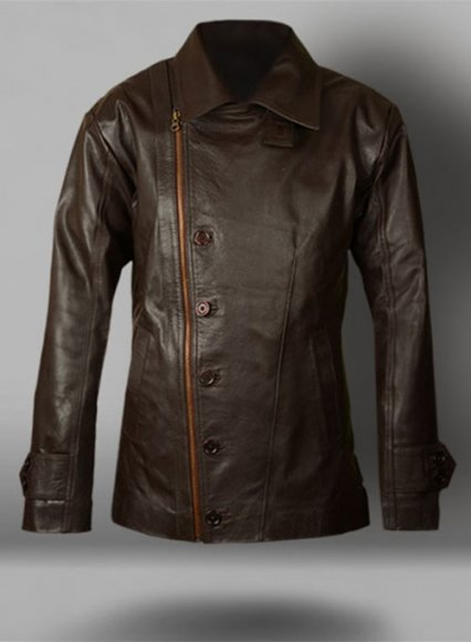 Thick Goat Dk Brown Leather Jacket # 609