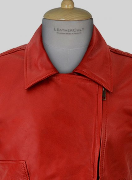 Red Katy Perry Leather Jacket