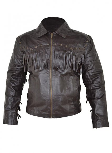 Leather Fringes Jacket #1007