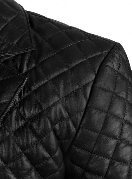 Bocelli Quilted Leather Blazer