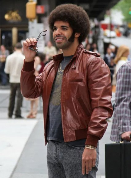Drake Graham Anchorman 2: The Legend Continues Leather Jacket