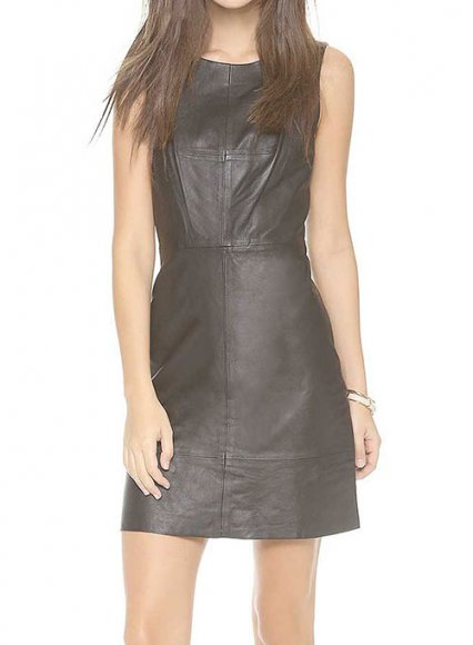 Habitual Leather Dress - # 771
