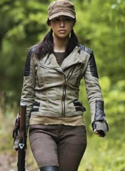Christian Serratos The Walking Dead Leather Jacket