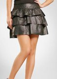 Layered Leather Skirt - # 123