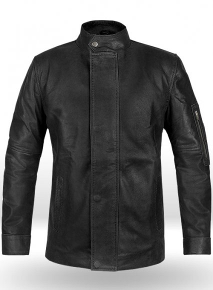 Distressed Black Californication 3 Hank Moody Leather Jacket