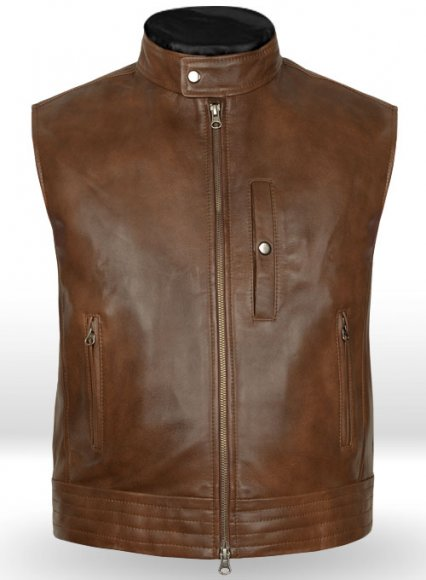 Spanish Brown Leather Vest # 325