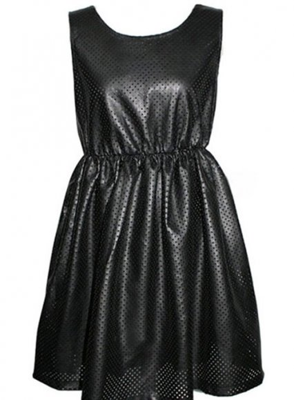 Perforated Leather Dress - # 782