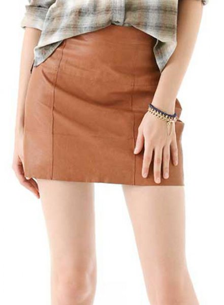 Piping Leather Skirt - # 183