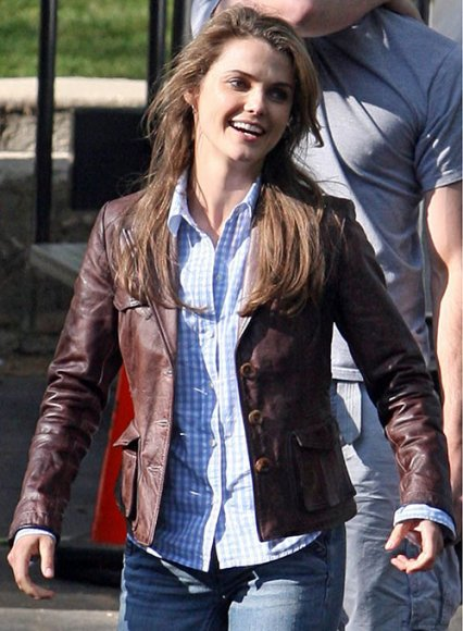 Keri Russell Bedtime Stories Leather Blazer