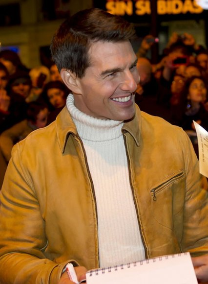Tom Cruise Mission Impossible 4 Premiere Leather Jacket