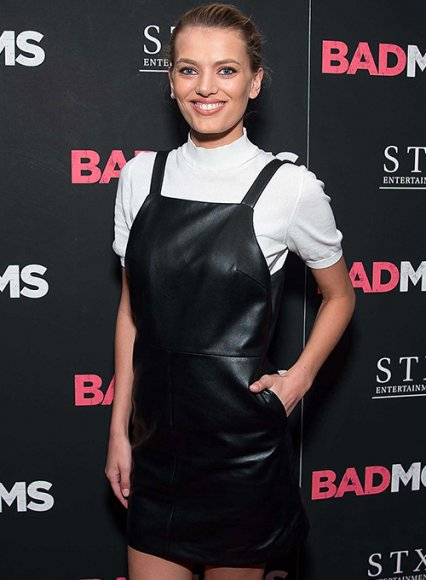 Bregje Heinen Leather Dungaree Dress