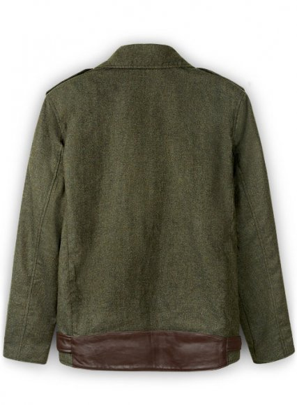 Tweed Leather Combo Jacket # 666