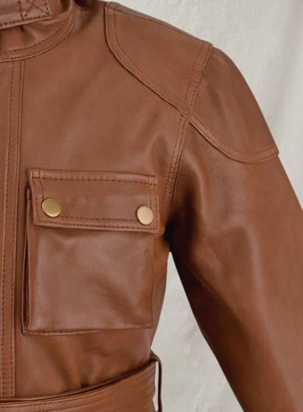 Log Cabin Brown Wax Leather Jacket #286