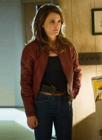 Keri Russell The Americans Leather Jacket