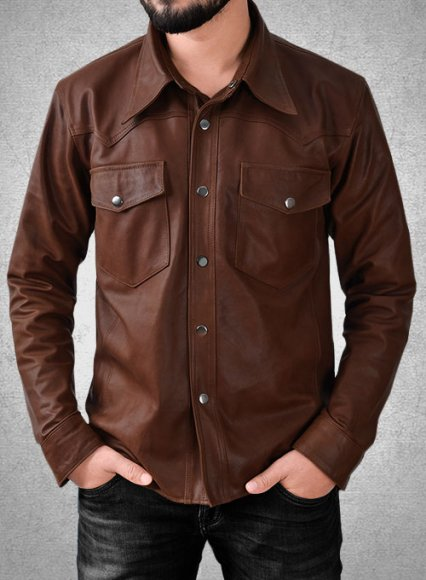 Light Weight Unlined Leather Shirt