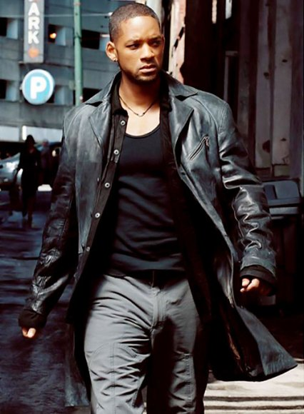 Will Smith I Robot Leather Long Coat