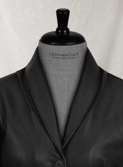 Modern Stretch Leather Blazer