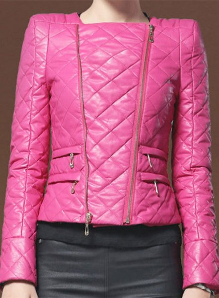 Stylish Collarless Leather Jacket # 512