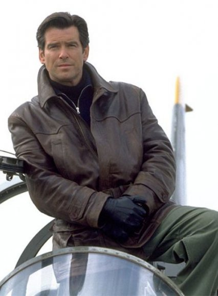 Pierce Brosnan Tomorrow Never Dies Leather Trench Coat