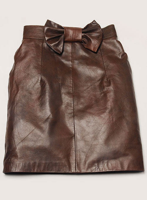 Bow Babe Leather Skirt