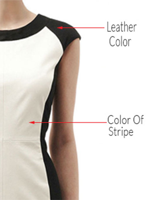Color Block Leather Dress - # 754