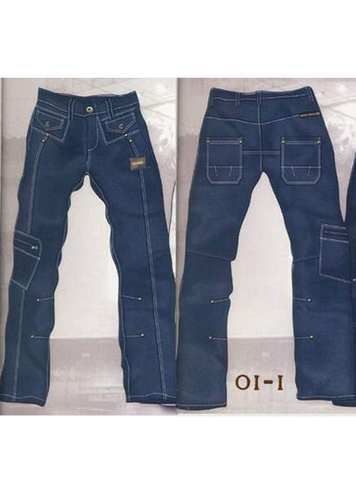 Leather Cargo Jeans - Style 01-1