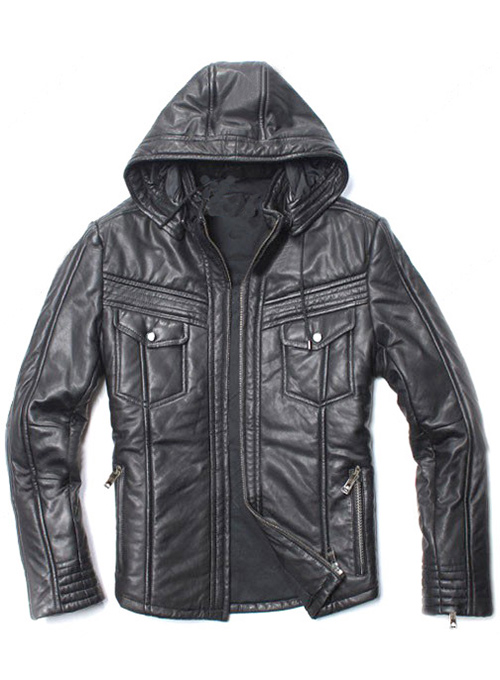 Leather Hood Jacket #109