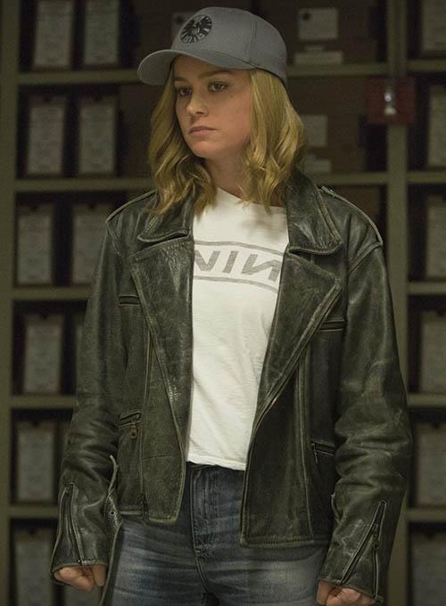 Brie Larson Captain Marvel Leather Jacket Leathercult