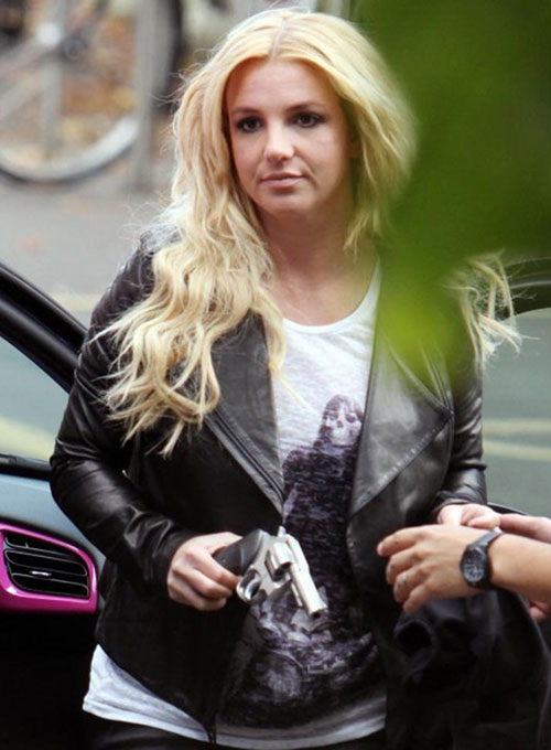 Britney Spears Leather Jacket - Click Image to Close