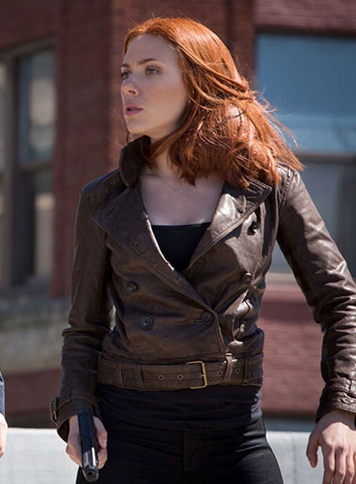 Captain America The Winter Soldier Scarlett Johansson Jacket
