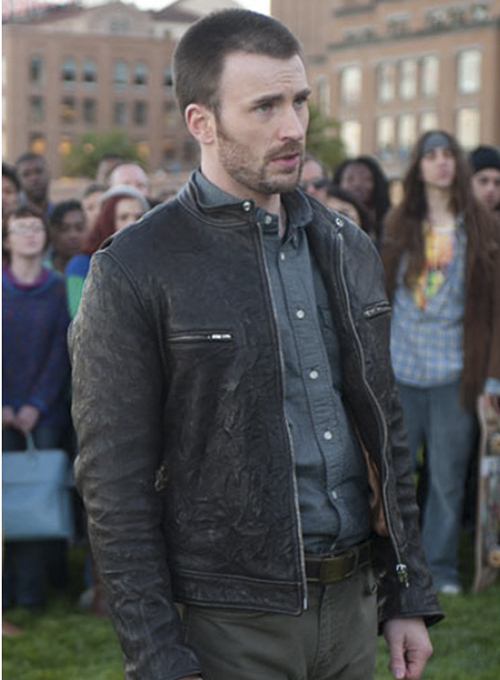 Chris Evans Playing it Cool Leather Jacket