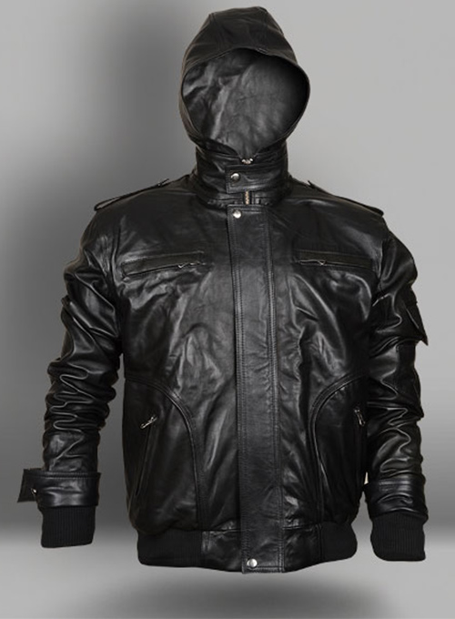 Demon Hooded Leather Jacket
