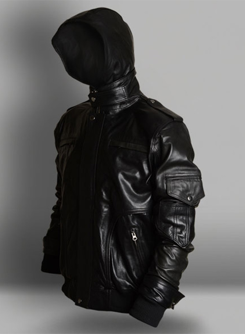 Demon Hooded Leather Jacket Leathercult Com Leather