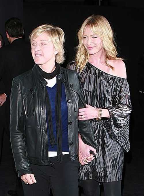 Ellen Degeneres Leather Jacket - Click Image to Close