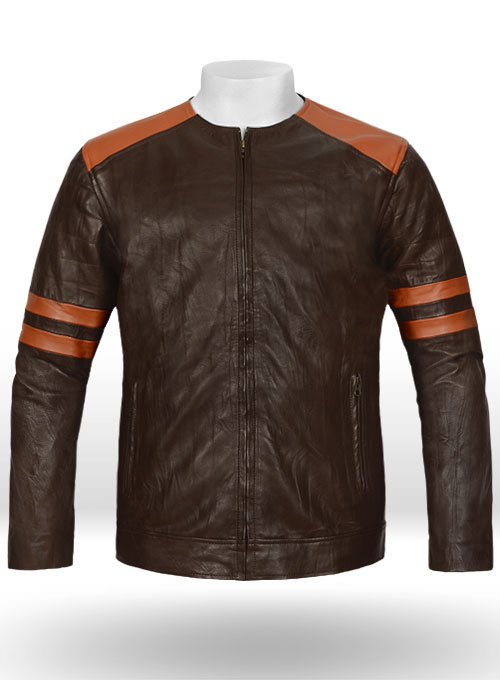 Leather fighter t shirt jacket leather for Leather jacket and shirt