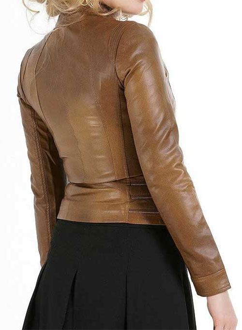 Fitted Leather Jacket # 521