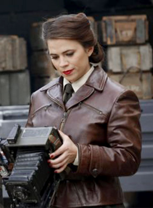 Hayley Atwell Captain America First Avenger Leather Jacket