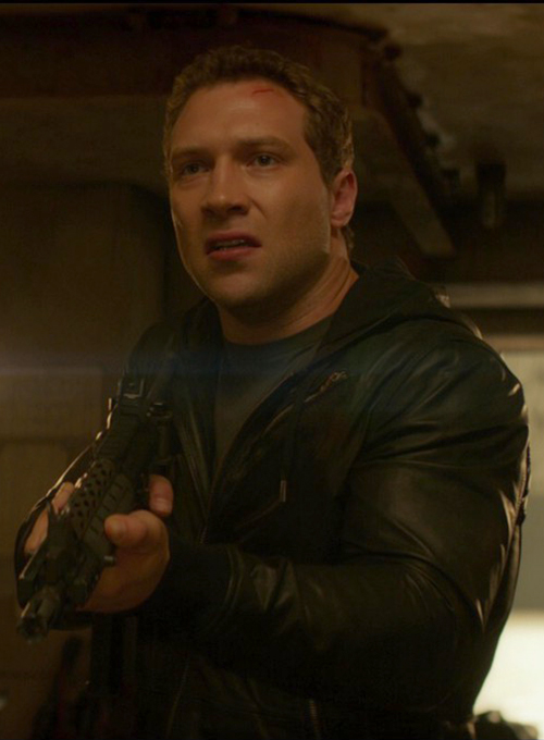 Jai Courtney Terminator Genisys Leather Jacket - Click Image to Close
