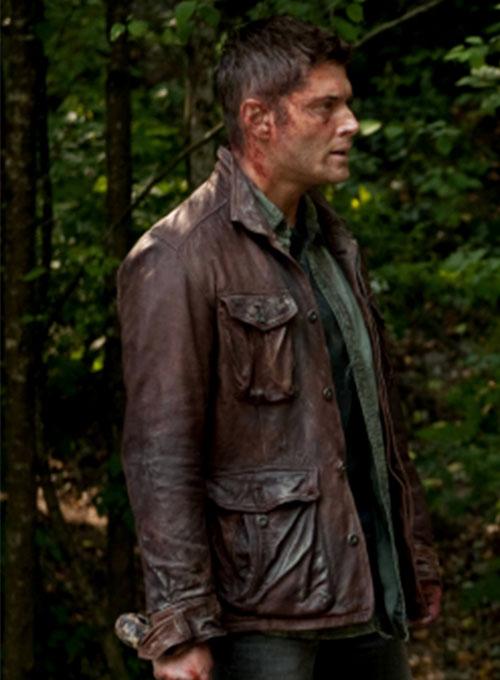 Handmade Men/'s Supernatural Season 7 Distressed Genuine Real Leather JacketCoat