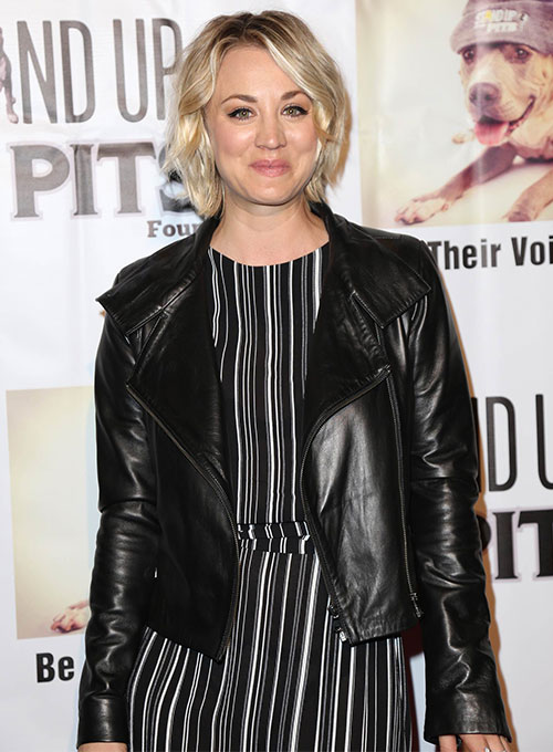 Kaley Cuoco Leather Jacket - Click Image to Close