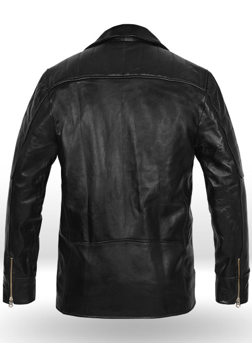 Pure Leather Biker Jacket #3 - Click Image to Close