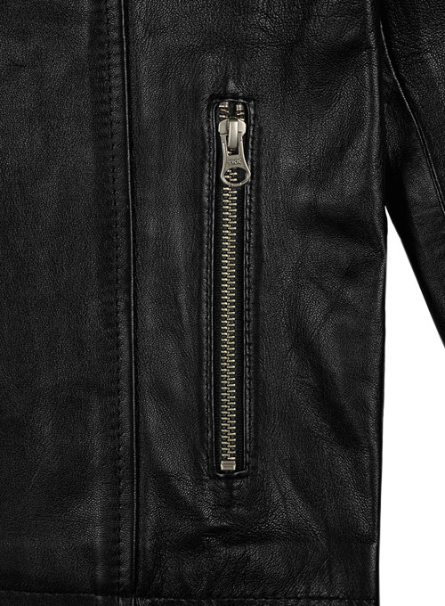 Leather Hood Jacket #109 - Click Image to Close