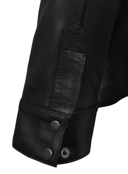Leather Shirt Jacket - #1S