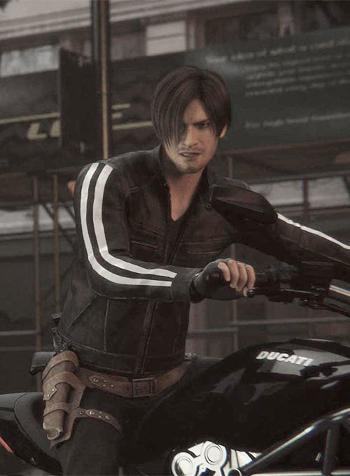 Best Motorcycle Jacket >> Leon Kennedy Resident Evil: Vendetta Leather Jacket : LeatherCult.com, Leather Jeans | Jackets ...