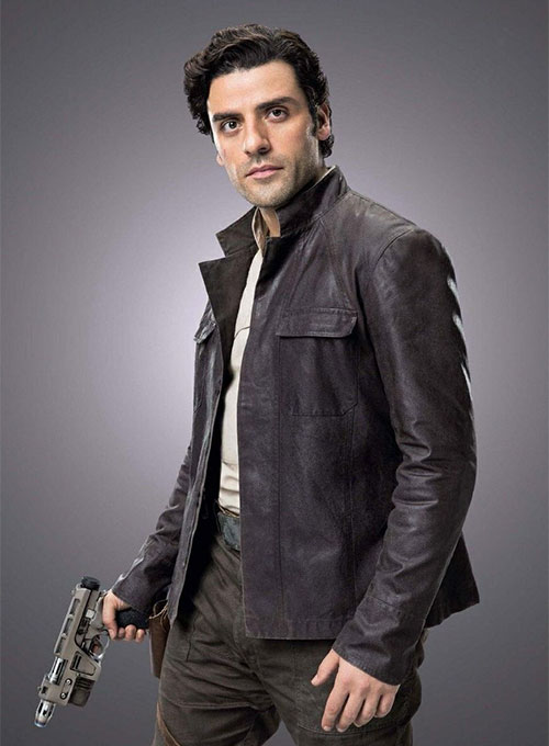 Oscar Isaac Star Wars: The Last Jedi Leather Jacket - Click Image to Close