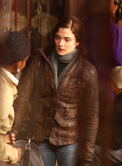 Rachel Weisz The Whistleblower Leather Jacket - Click Image to Close