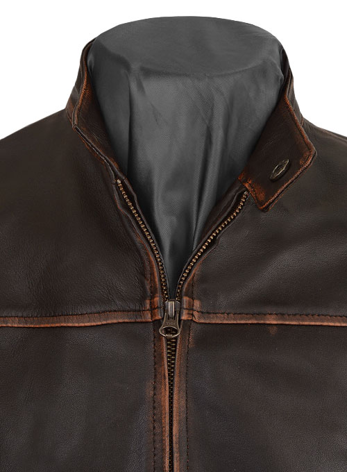 Stormwise Mens Fashion Club Real Leather Fight Jacket